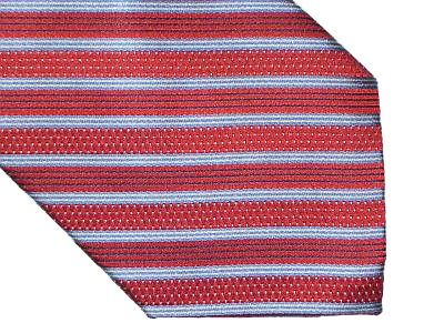 Claiborne Silk Tie - Diagonal Stripe Red White Blue