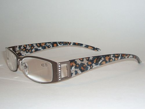 Reading Glasses 1.50 - Animal Print Black Gold Bronze Readers