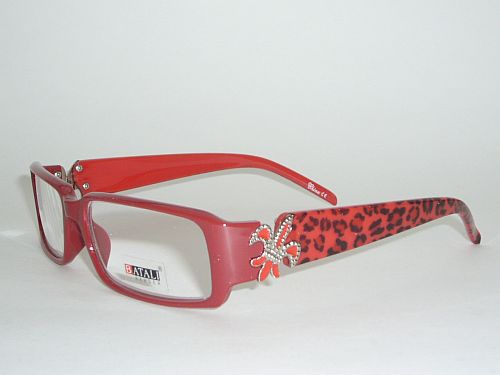 Reading Glasses 1.75 - Cheetah Red Frame Readers