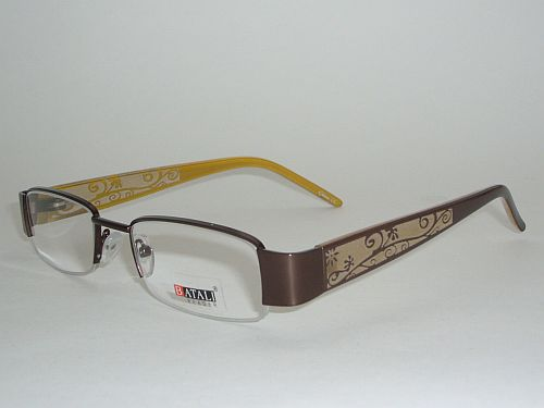 Reading Glasses 1.50 - Floral Yellow Copper Readers