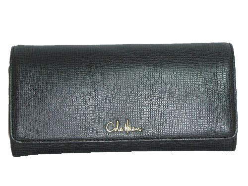 Cole Haan Leather Accordian Wallet Black - Ali Collect