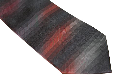 Kenneth Cole Reaction Tie - Red Black Stripe