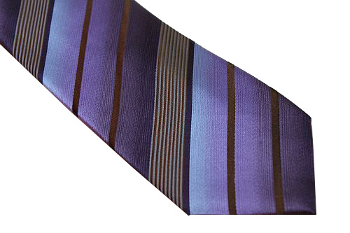 Kenneth Cole Reaction Tie - Purple Brown Stripe