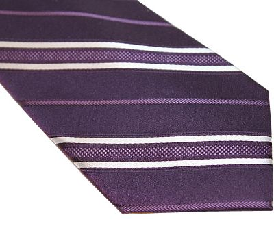 DKNY Tie - Stripe Purple White
