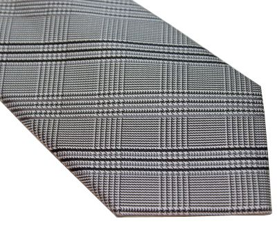 DKNY Tie - Herringbone Gray Black