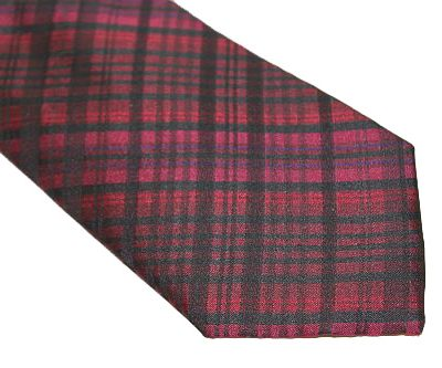 DKNY Tie - Plaid Black Red