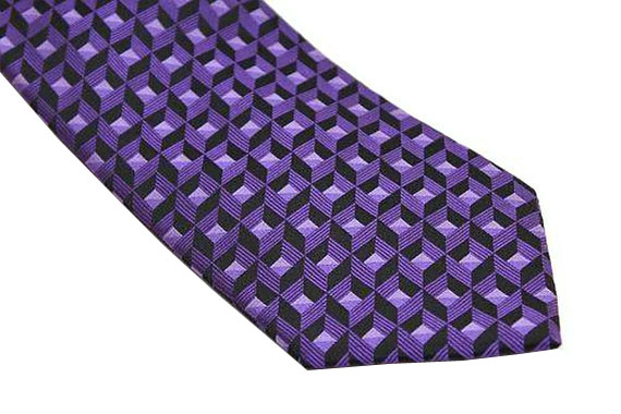 Sean John Tie - Purple Black