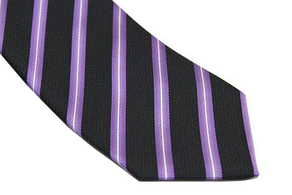 Sean John Tie - Black Purple White
