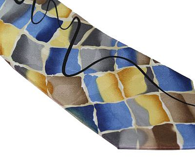 Jerry Garcia Tie - Birdland - Yellow Blue Taupe