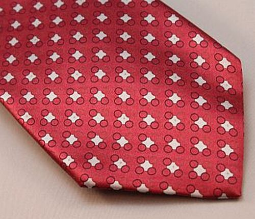 Lanae Joy Tie XL - Red with Black and Silvery White