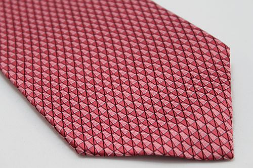 Lanae Joy Tie XL - Mini Triangles in Light Red, Pink & Mauve