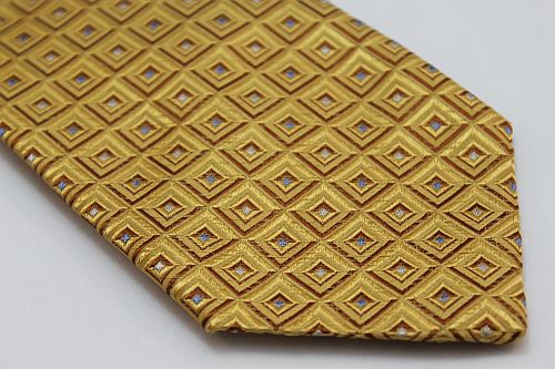 Lanae Joy Tie - Gold with Boxes of Silver