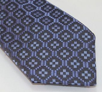 Lanae Joy Tie - Blue on Blue