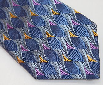 Lanae Joy Tie - Blue Pink Gold Gray