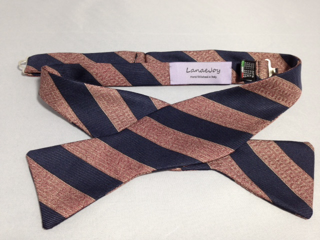 Lanae Joy Bow Tie - Navy Red Stripe