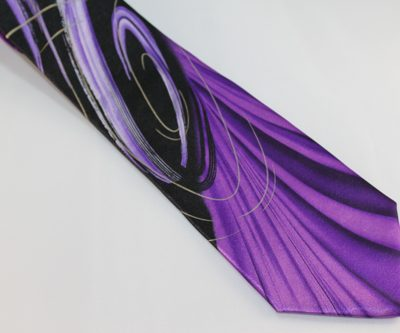 Garcia tie extra long curves and lines purple black