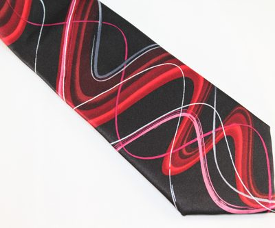 Jerry Garcia Tie - Happy Birthday - Black Red Pink Silver
