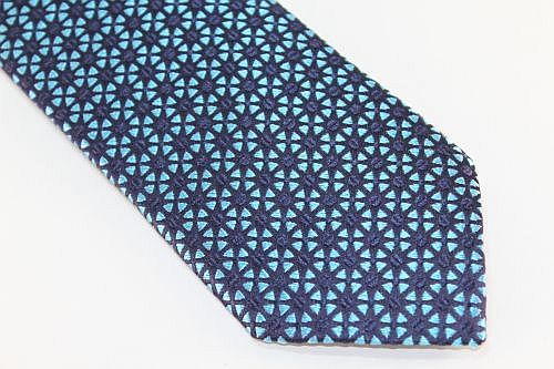 Lanae Joy Extra Long tie aqua blue black