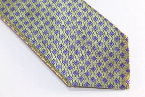 Lanae Joy Extra Long Tie green purple peach