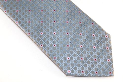 Lanae Joy Extra Long Tie gray light blue pink