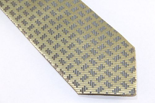 Lanae Joy Extra Long Tie Yellow Gold Silver Gray