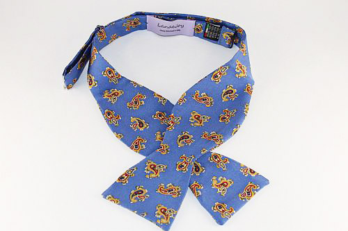 Lanae Joy Bow Tie Paisley Blue Yellow Red