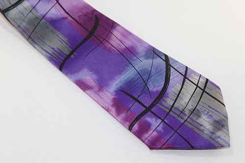 Jerry Garcia Tie Purple Gray