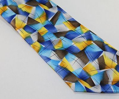 Jerry Garcia Tie - Blue Brown Yellow