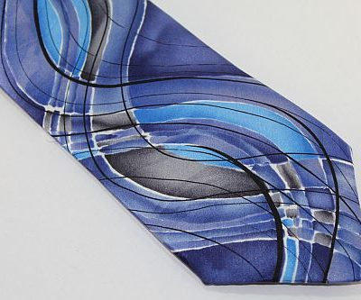 Jerry Garcia Tie Blue Aqua Gray